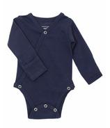 L'oved Baby Kimono Bodysuit Organic Navy