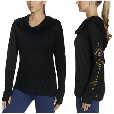 Gaiam Emery Cowl Top Black
