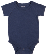 petit lem Heather Navy Onesie NB-18M