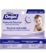 Orajel Natural Source Teething Gel for Infants Night time