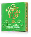 Willies Cacao 100% Raisin & Hazelnut Chocolate Bar