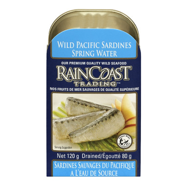 Raincoast Trading Wild Pacific Sardines in Spring Water