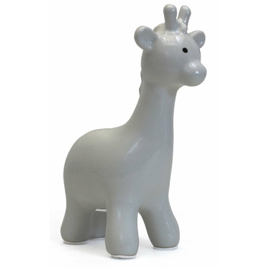 Child To Cherish Small Solid Grey Giraffe Bank