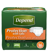 Depend Protection with Tabs Maximum Absorbency Briefs