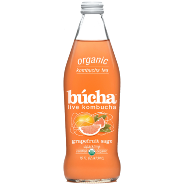Bucha Sparkling Kombucha Tea Grapefruit Sage