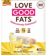 Love Good Fats barres de mousse au citron
