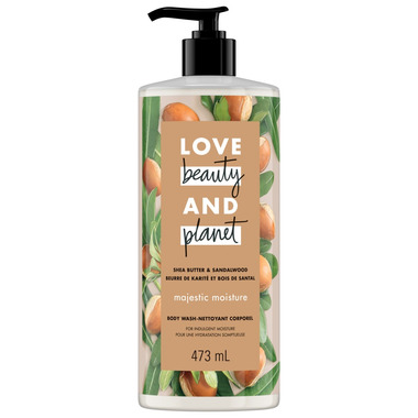 Love Beauty And Planet Shea Butter & Sandalwood Majestic Moisture Body Wash