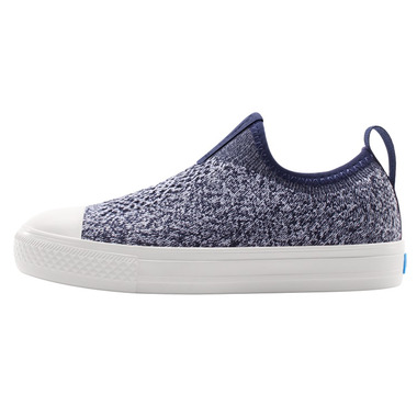 People Footwear Phillips Knit Paddington Blue and Yeti White