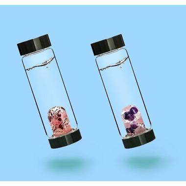VitaJuwel Luna ViA Glass Water Bottle