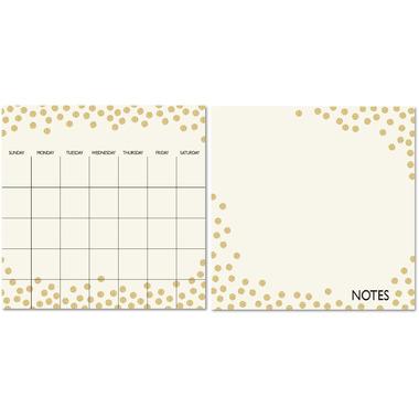 WallPops Gold Confetti Dry Erase Calendar & Message Board
