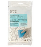 Savvy Home Gants en vinyle hypoallergéniques Petit/Moyen