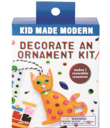 Kid Made Modern Decorate an Ornament Kit Cat