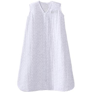 Halo SleepSack Cotton Muslin Grey Open Circles