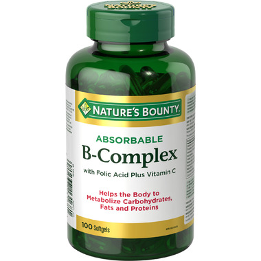 Nature\'s Bounty Super B-Complex with Folic Acid plus Vitamin C and Biotin