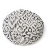 Halfmoon Round Meditation Cushion Charcoal Ikat