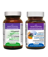 New Chapter Women's Daily Health Vitamin & Fermented B Complex Bundle
