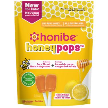 Honibe Honeypops for Kids Lemon