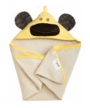 3 Sprouts Hooded Towel Yellow Monkey