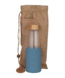 SoL Glass Water Bottle Blue Stone