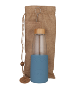 SoL Cups Glass Water Bottle Blue Stone