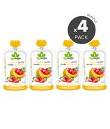 Bioitalia Apple Strawberry Banana Organic Puree Smoothie Bundle