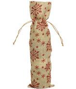 Harman Glitter Snowflake Wine Bottle Gift Bag