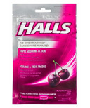 Halls Bag Mentho-Lyptus Black Cherry No Sugar Added
