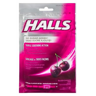 Halls Bag Mentho-Lyptus Black Cherry No Sugar Added