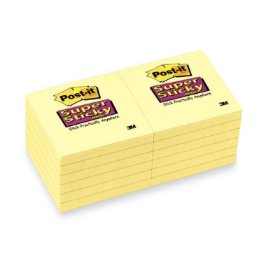 3M Post-it Super Sticky Canary Pads