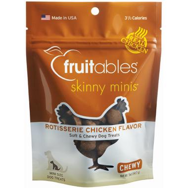 Fruitables Skinny Minis Semi Moist Dog Treats Rotisserie Chicken