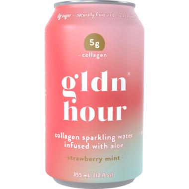 Gldn Hour Collagen Sparkling Water Strawberry Mint