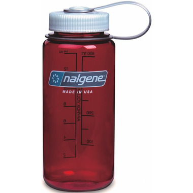 Nalgene 16 Ounce Wide Mouth Bottle Outdoor Red with Iridescent Cap