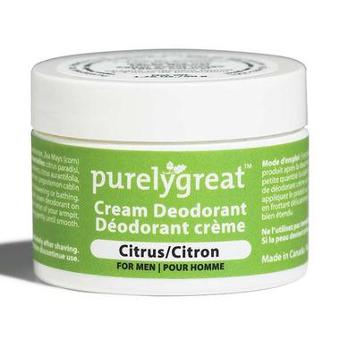 Purelygreat Cream Deodorant for Men Citrus