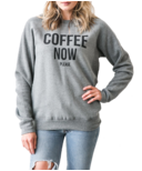 Brunette The Label Coffee Now Crewneck Heather Grey
