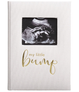 Pearhead My Little Bump Pregnancy Journal Ivory Linen