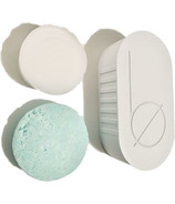 Bottle None be CLEAR Travel Case Soap Dish Set