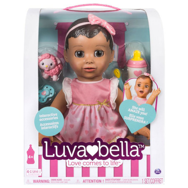 Luvabella Baby Doll Brunette Hair
