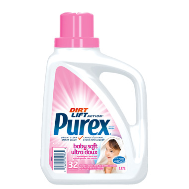 Purex Triple Action Ultra Concentrate Hypoallergenic Baby Soft Detergent