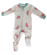 ZippyJamz Footed Organic Cotton Sleeper Watermelon Wiggles