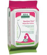 Aleva Naturals Bamboo Fem Wipes