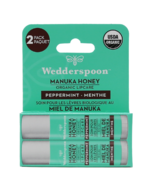Wedderspoon Organic Manuka LipBalm Peppermint Two Pack