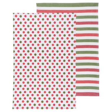 Now Designs Dotty Holiday Dishtowel Set