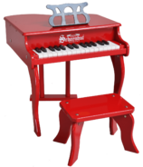 Schoenhut 30 Key Fancy Baby Grand Piano Red