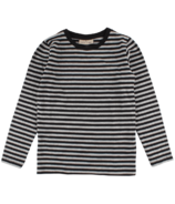 Nordic Label Long Sleeve Stripped Top Black
