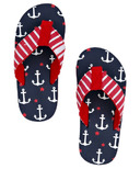 Hatley Little Blue House Kids Flip Flops Anchor