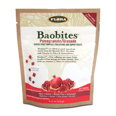 Flora Baobites Super Fruit Snacks Pomegranate