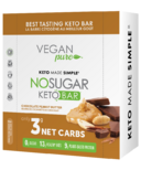 Vegan Pure No Sugar Keto Bar Chocolate Peanut Butter