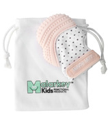 Malarkey Kids Munch Mitt Teething Mitten Pastel Pink Hearts