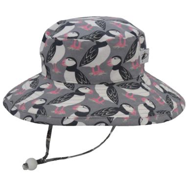Puffin Gear Sunbaby Hat Puffin Love Grey