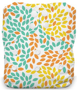 Thirsties Natural One Size All In One Snap Fallen Leaves